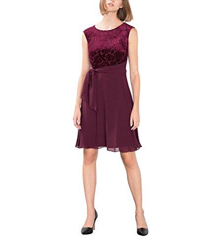 ESPRIT Collection 106EO1E015, Vestito Donna, Rosso (Bordeaux Red), 38 (Taglia Produttore: Medium)