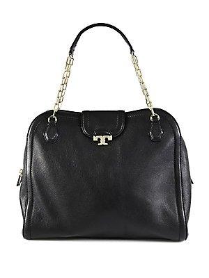 7ac076b87208 The Features NWT Tory Burch large sammy SATCHEL Black Handbag Bag Purse  RP550 -