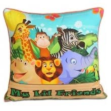 Swayam Kids N More Digital Print Mercerised Cotton Kids Cushion Cover Set - Multicolor (KCC 162-104)