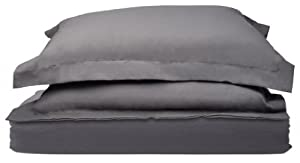 1500 Thread Count Egyptian Quality Duvet Cover Set, 3pc Luxury Soft, All Sizes & Colors, King-Gray