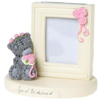 Special Bridesmaid Me to You Bear Figurine and Photo Frame