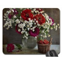 Zinnias. Mouse Pad, Mousepad (Flowers Mouse Pad)