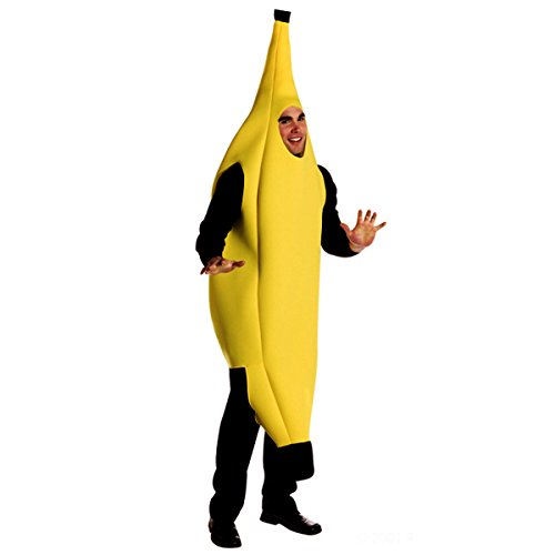 Quesera Men's Banana Deluxe Adult Banana Suit Funny Halloween Adult Costumes