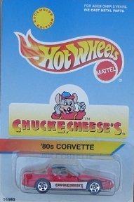 chuck-e-cheese-hot-wheels-die-cast-1980s-corvette-automobile-by-mattel
