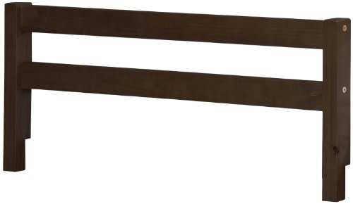 100-Solid-Wood-Safety-Rail-Guard-by-Palace-Imports-Java-Color-145H-x-425W-2x-2-Posts-Rubberized-Metal-Connectors-Included-Mattress-Height-Up-To-8-Requires-Assembly