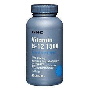 Gnc Vitamin B-12 1500, Capsules, 90 Ea