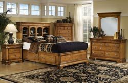 Hillsdale Furniture Lafayette Bookcase 5-Piece Bedroom Set, Queen