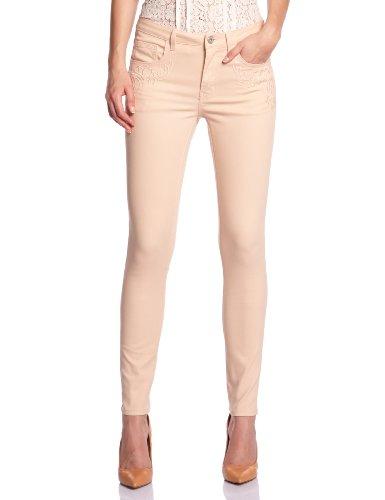 Vila - Jeans slim, donna, Arancione (Orange (Novelle Peach)), L