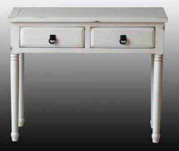"Farmhouse Console Table - Vintage White (Vintage White) (29""H x 34.5""W x 16""D)"