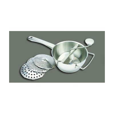 WINWARE Stainless Steel Vegetable Mill, 2 Quart — 1 set.