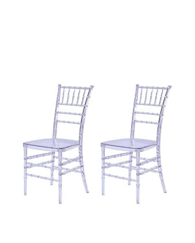 Manhattan Living Set of 2 Wadna Dining Chairs, Clear