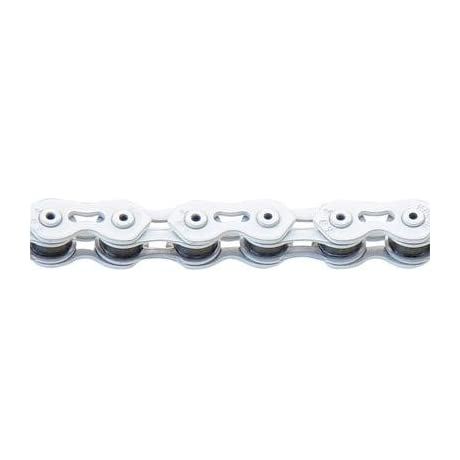KMC K710SL Single Speed Bicycle Chain - White - K710SL WHITE-110L