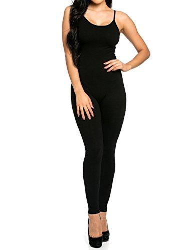 CoCo Fashion Damen Jumpsuit Ärmeloses Overall Spielanzug Spaghettiträger Hosen lang