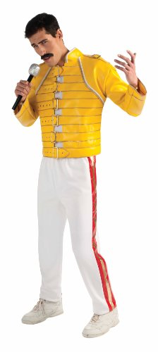 Freddy Mercury Deluxe Suit Costume, Yellow, Standard