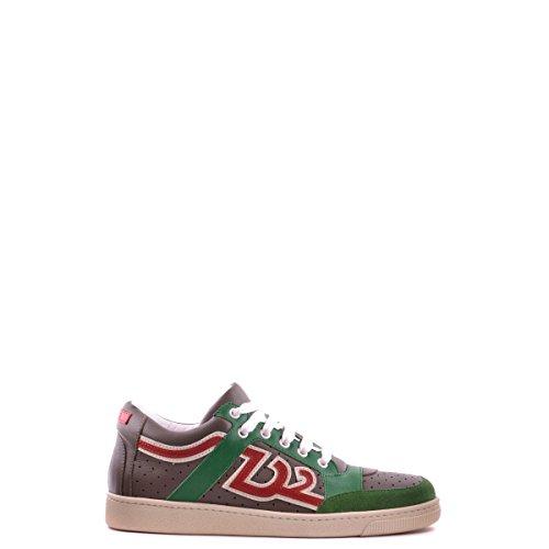 Dsquared2 Dsquared scarpe sneakers uomo in pelle nuove verde EU 42 W13 SN106251
