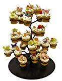 Dress My Cupcake Chloe Cupcake Flower Stand - 3 Dozen White - Stands Displays Trees for Cakes & Desserts