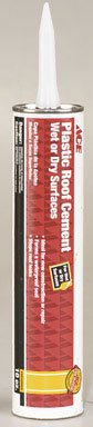 GARDNER GIBSON 2172 9 66 AC ACE FIBERED WET PATCH ROOF CEMENT 10 OZ BLACK