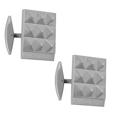 Marc Ecko Polished Silver 9-Pyramid High Cufflinks