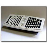 "AF410A AirFlow Breeze, Quiet Register Booster Fan, Almond Color 4"" x 10"" opening"