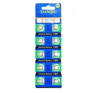 Bluecell 10 Pcs AG13 Alkaline Button Cell Battery 357A CX157 LR44W for Watch Toy Calculator