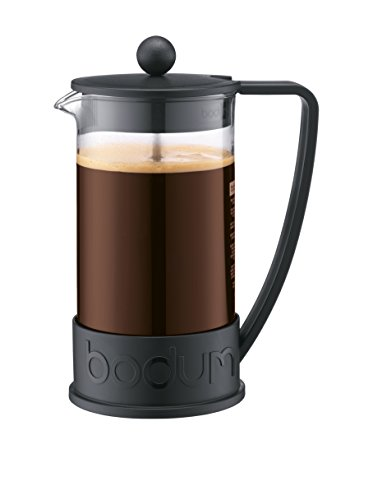 Coffee Maker Cup Size : Bodum Brazil French Press 1-Liter 8-Cup Coffee Maker, 34-Ounce, Black by Bodum from Coffee Maker ...
