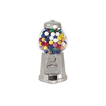 "StealStreet SS-CQG-GM0008-SLV 9"" Silver Color Decorative Display Gumball Snack Vending Machine"