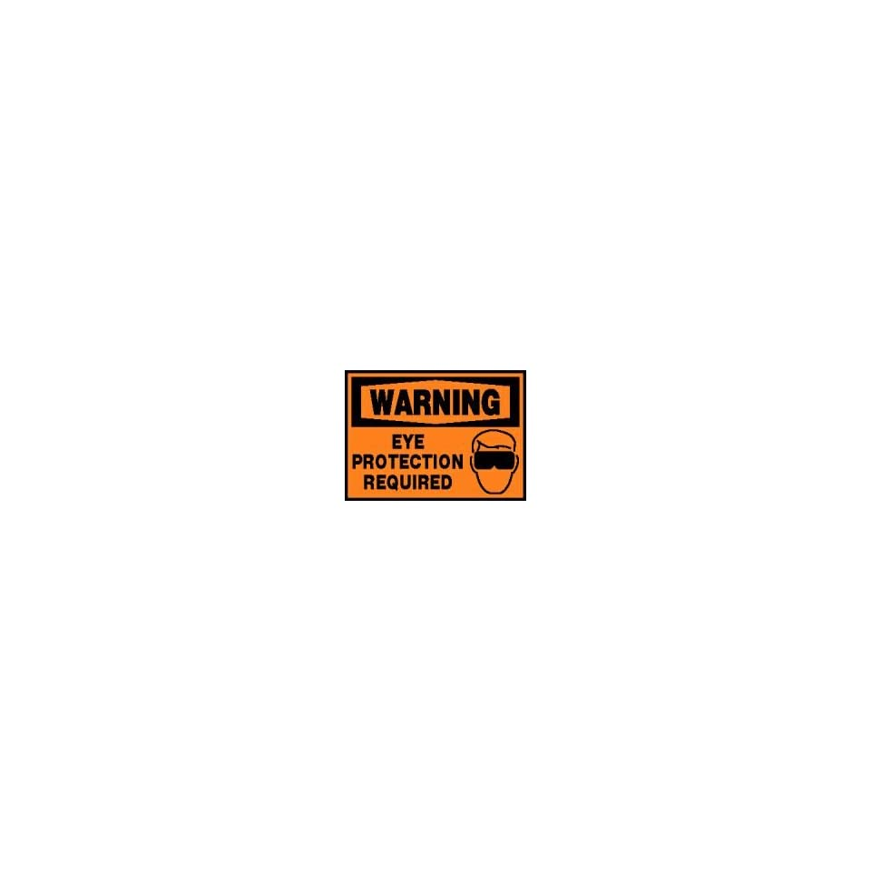 WARNING Labels EYE PROTECTION REQUIRED (W/GRAPHIC) Adhesive Vinyl   5 pack 3 1/2 x 5