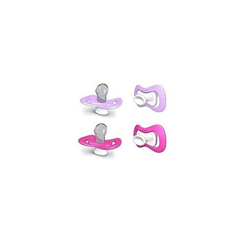 iiamo Peace Pacifiers 0-6 months (pink/purple) - 1