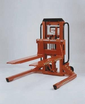 "Beacon Trans-Positioner Straddle (For Skid & Pallet Entry).; Drive: Manual; Lift: Electric; Capacity: 3,000 Lbs.; Overall Height: 52-1/2""; Lift Height: 35""; Fork Width/Length: 14""-31"" / 42""; Overall Width: 48-1/2""; Overall Length: 66""; Model# Btps-30-Me"