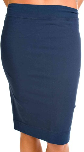 Hard Tail skinny knee skirt -navy (Small) Image