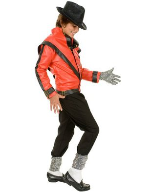 Child Boys Michael Jackson Thriller Red Jacket Costume Accessory