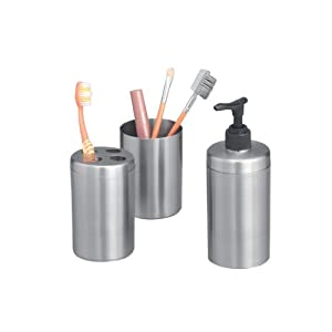 Zeller 18258 Set 3 accessori da bagno in acciaio INOX: Amazon.it: Casa ...