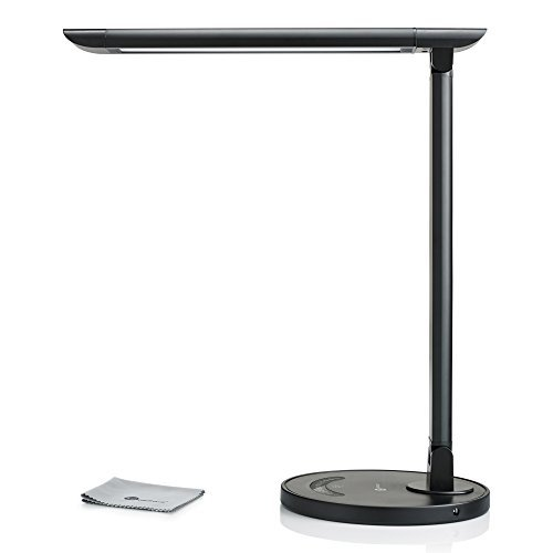 TaoTronics LED Eye-Caring Desk Lamp with USB Charging Port, Touch Control, 5 Color Modes