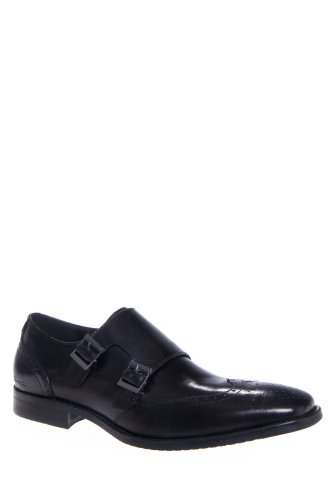 Kenneth Cole Men'S Lock Up Wing Tip Monk Strap Oxford Dress Shoe