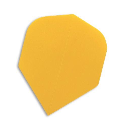F4025 Yellow Poly STD Dart Flights 5 Sets pro Pack (15 Flights insgesamt).
