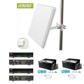 Selfsat H50D2 Flachantenne Twin Antenne HD-Ready inkl. 2x Xoro HRS 8900 Hbb+ HDTV CI+ HD+ Smart TV PVR USB HbbTV
