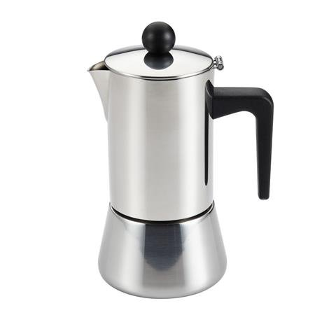 Bonjour Coffee Stainless Steel 4-Cup Stovetop Espresso Maker front-48548