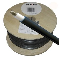 100' 10-Gauge Photovoltaic Solar Cables - Black