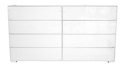 Tenzo-4118-871-Exclusive-Designer-Sideboard-MDF-mit-glasfronten-wei-glas-49-x-158-x-85-cm