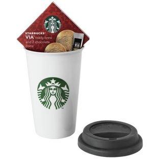 starbucks-travel-mug-white-ceramic-rubber-lid-instant-coffee-choc-coins