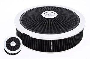 "Spectre Performance 847621 Black 14"" x 3"" Extraflow Air Filter Value Pak"