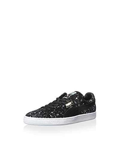 Puma Men's Suede Classic Black Splatter Sneaker