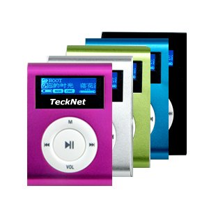 TeckNet ZL6036 2GB MP3/WMA Player with Voice Recording - Pink