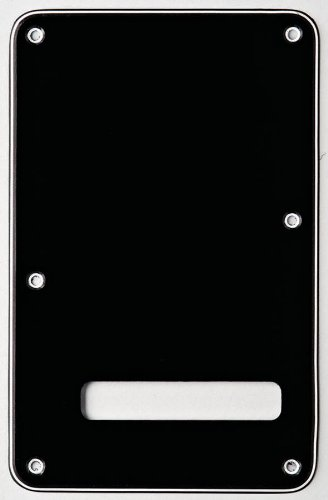 Fender Accessories 099-1322-000 3-Ply Black (B/W/B) Stratocaster Backplate