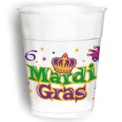 Amscam Mardi Gras Cups (25 Per Pack), 16 oz, Multicolor