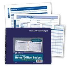 Adams Business Forms : Home/Office Budget Record, 30 Pages, 10-1/2