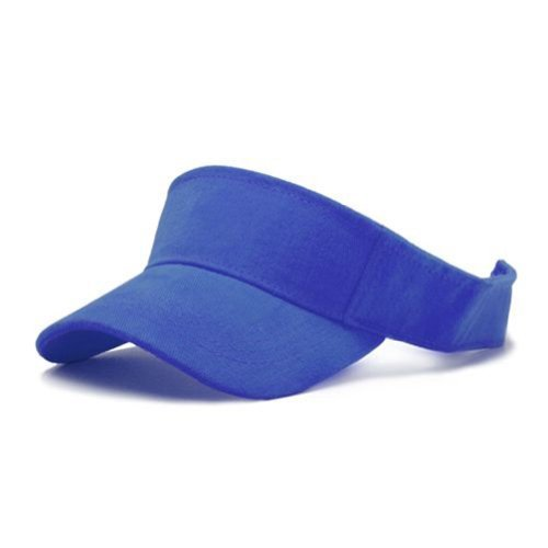 Solid Sports Blank Visor (Comes In Many Different Colors), Black