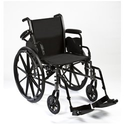 """Roscoe Medical Removable Flip Back, Desk-Length Arms And Swing-Away Footrests 16"""" Reliance Iii Wheelchair"""