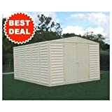 DuraMax 00514, 10' x 13' Stronglasting Woodbridge Vinyl Storage Shed With Foundation Kit (00514-DM) Category: Duramax Vinyl Sheds