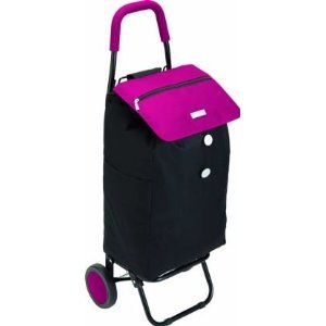 Kitchen craft coolmovers chariot courses pliable rose noir - Amazon chariot de course ...